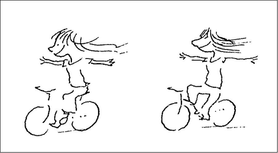 Sie sind das Tüpfchen aufs i in der Anthologie «Fahrradfreunde»: Sempés Velo-Cartoons.